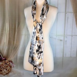 Accessories - Asian Print Long Scarf